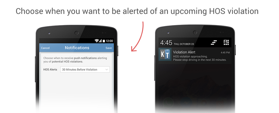 KeepTruckin now alerts drivers if they are at risk of an HOS violation