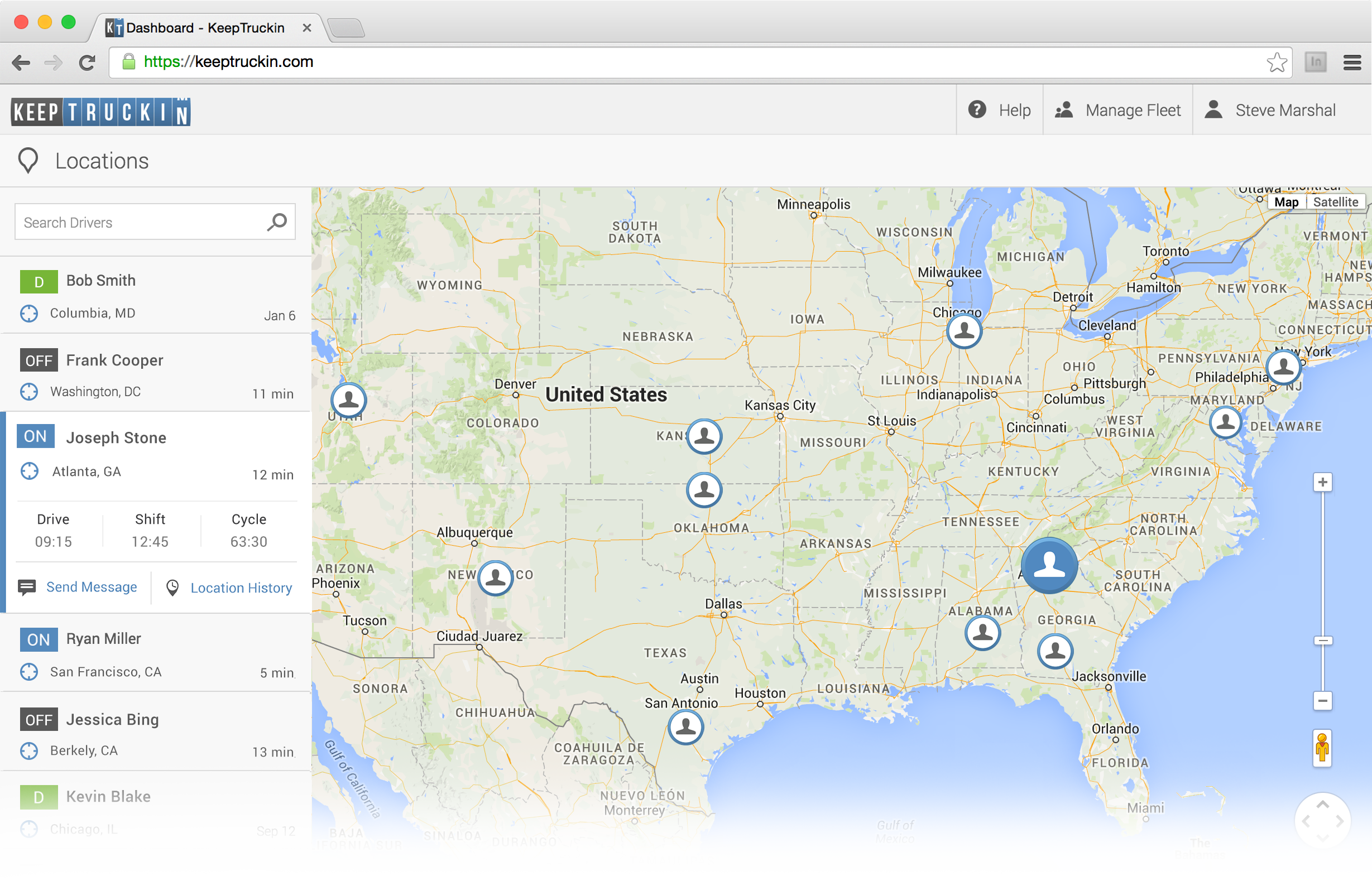 GPS Location Tracking with KeepTruckin
