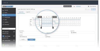 Edit your drivers' logs from the KeepTruckin Dashboard for Fleets