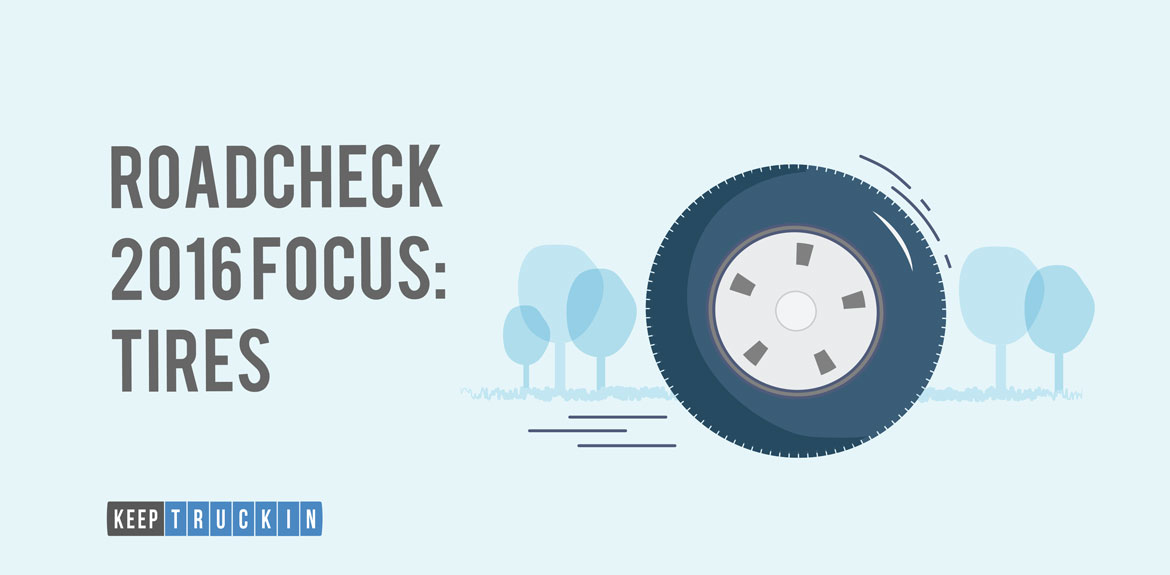 The special emphasis of roadside inspection 2016 is on tires