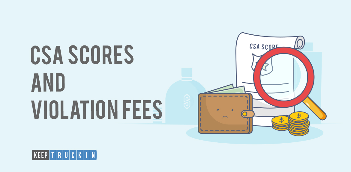 How do CSA Scores and Violation Fees affect the overall cost of running a fleet