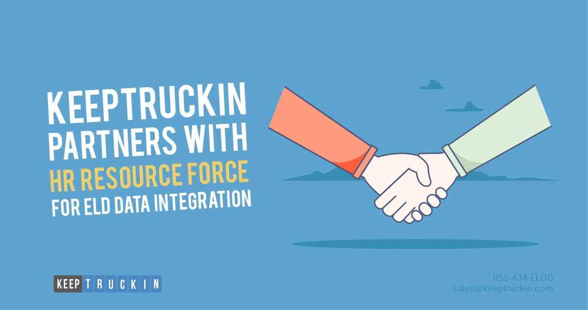 KeepTruckin Partners with HR Resource Force for ELD Data Integration