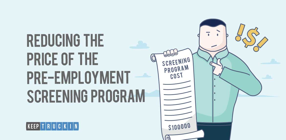 Reducing the Price of the Pre Employment Screening Program