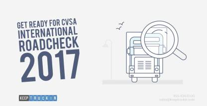 Get Ready for CVSA International Roadcheck 2017