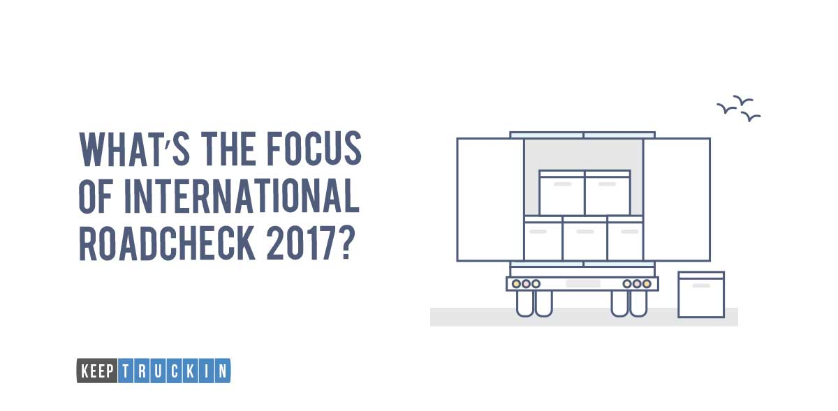 Cargo Securement is the Focus of CVSA International Roadcheck 2017