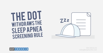The DOT Withdraws Proposed Sleep Apnea Rule