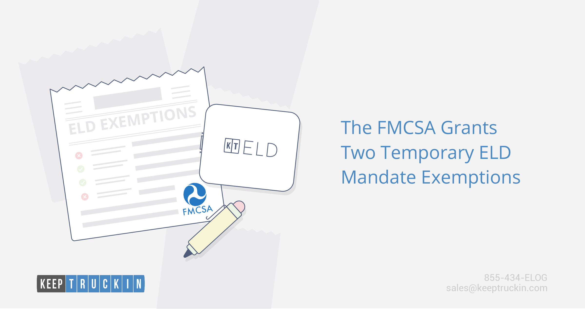 The FMCSA Grants Two Temporary ELD Mandate Exemptions