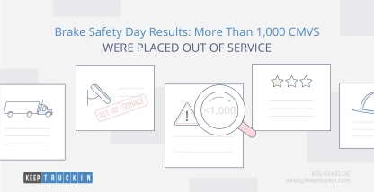 Brake Safety Day Results: More Than 1,000 CMVs Were Placed Out-of-Service