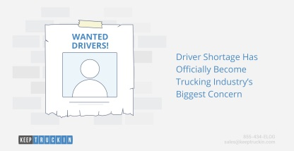 Driver Shortage Has Officially Become Trucking Industry's Biggest Concern