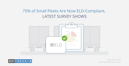75% of Small Fleets Are Now ELD-Compliant, Latest Survey Shows