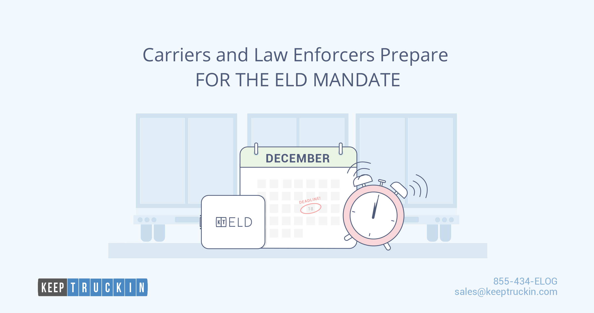 Carriers and Law Enforcers Prepare for the ELD Mandate