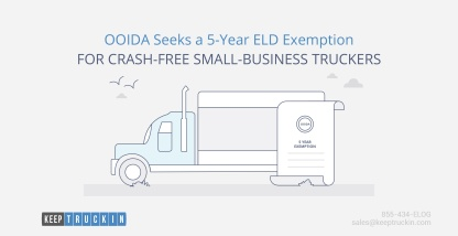 OOIDA Seeks a 5-Year ELD Exemption for Crash-Free Small-Business Truckers
