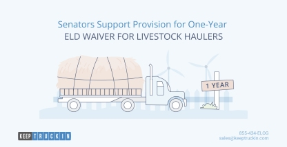 Senators Support Provision for One-Year ELD Waiver for Livestock Haulers