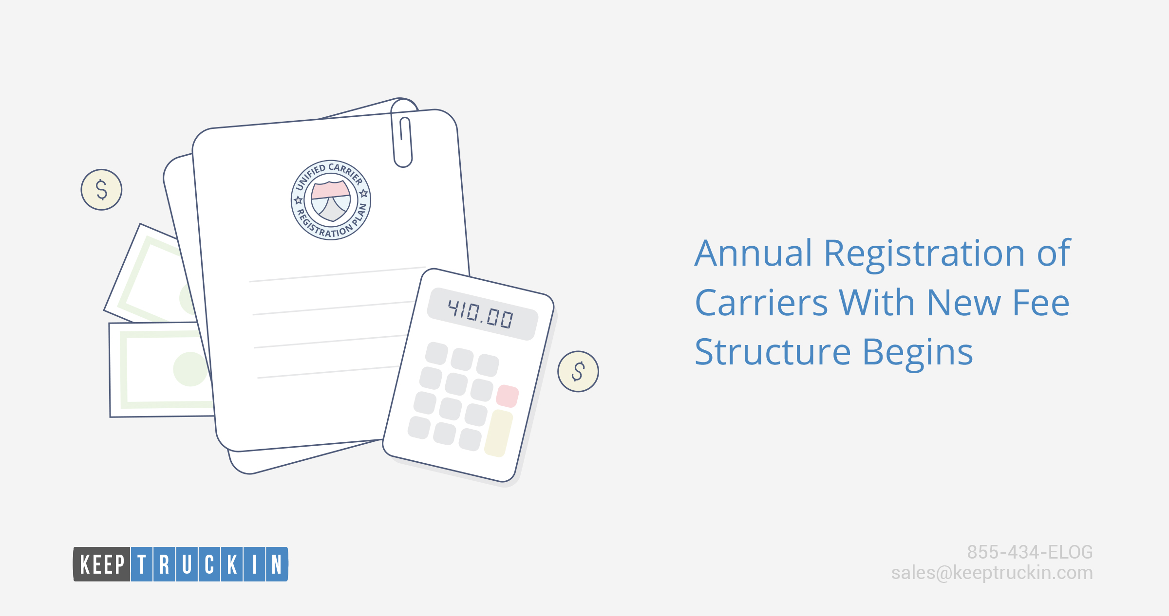 Annual registration of carriers with new fee structure begins