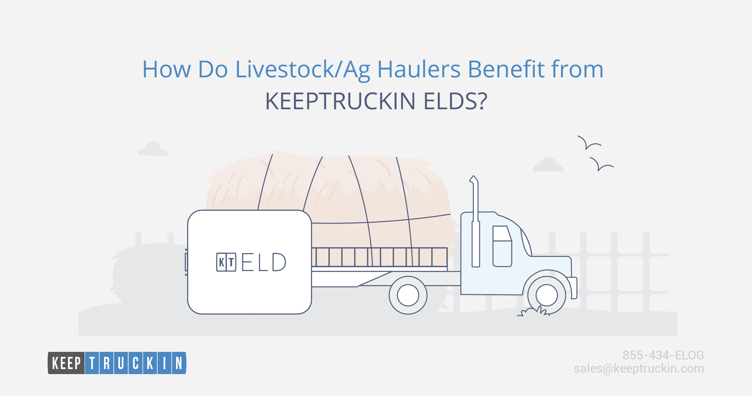 How do livestock/ag haulers benefit from the KeepTruckin ELD?