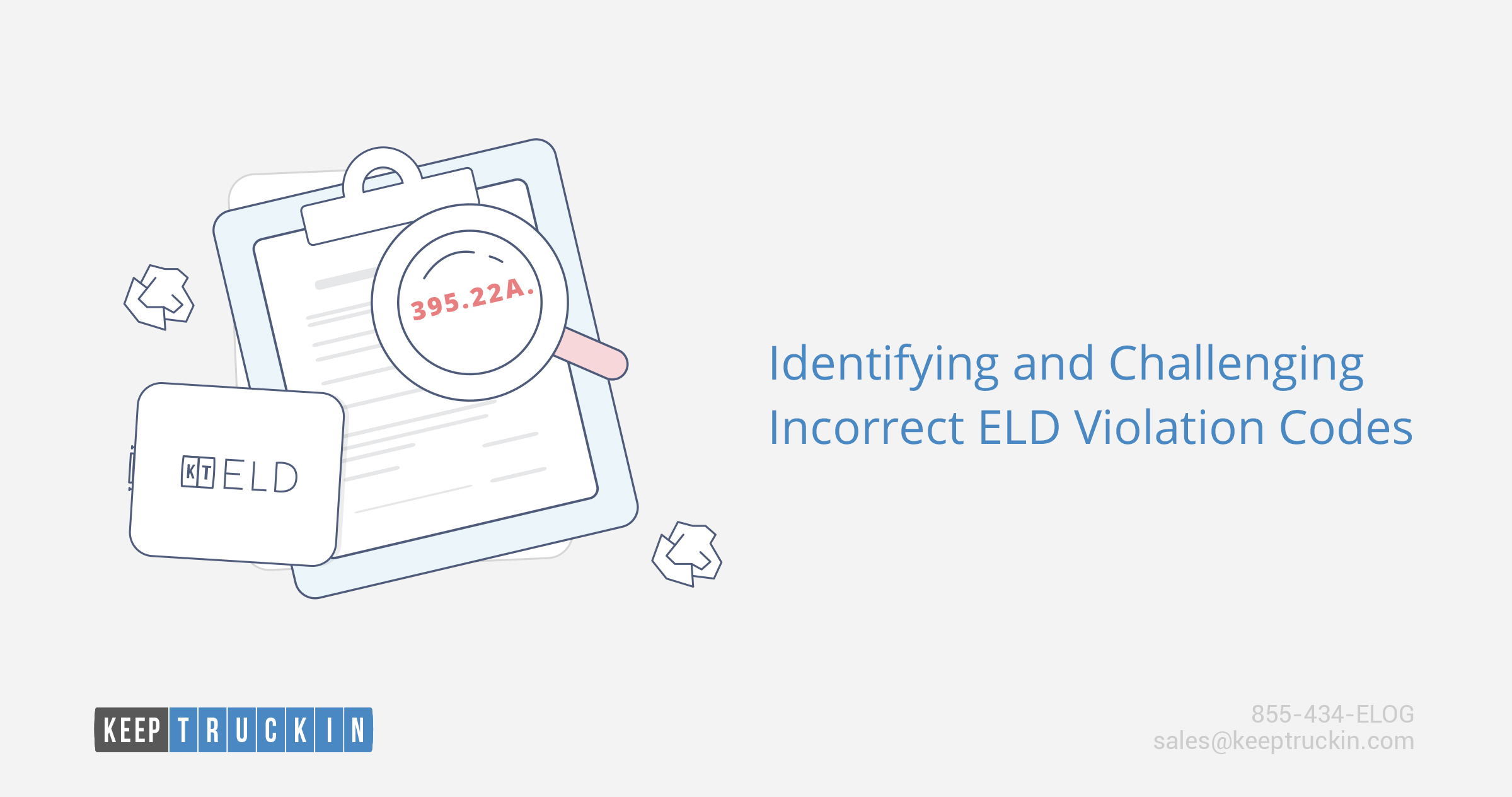 Identifying and challenging incorrect ELD violation codes