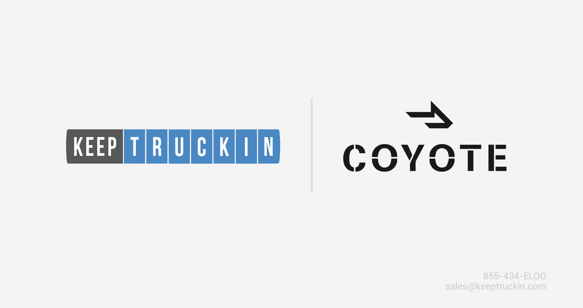 KeepTruckin and Coyote Logistics form a strategic alliance to help carriers with ELD implementation