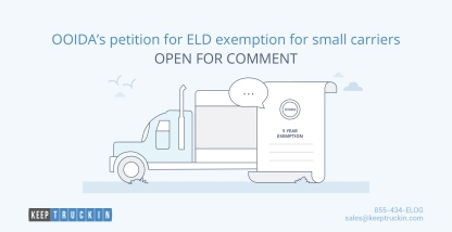 OOIDA's petition for ELD exemption for small carriers open for comment