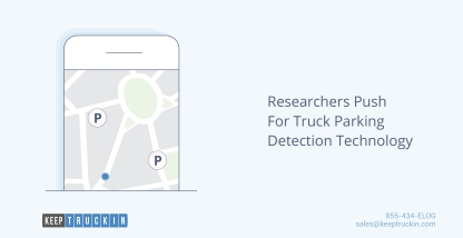 Researchers push for truck parking detection technology