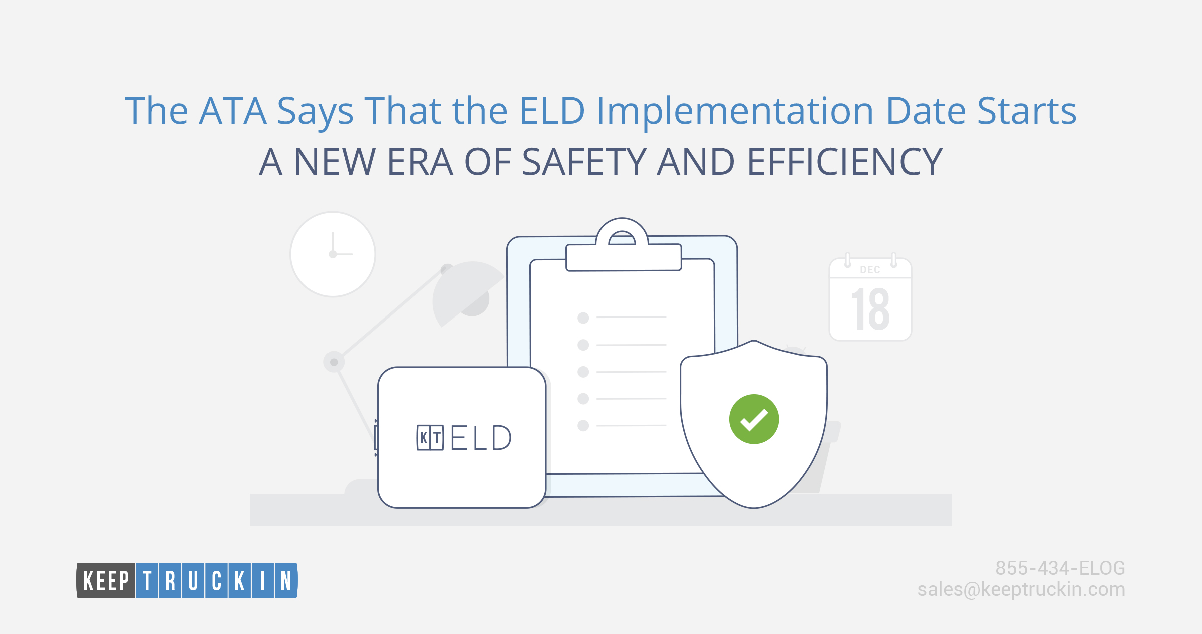 The ATA Says that the ELD Implementation Date Starts a New Era of Safety and Efficiency