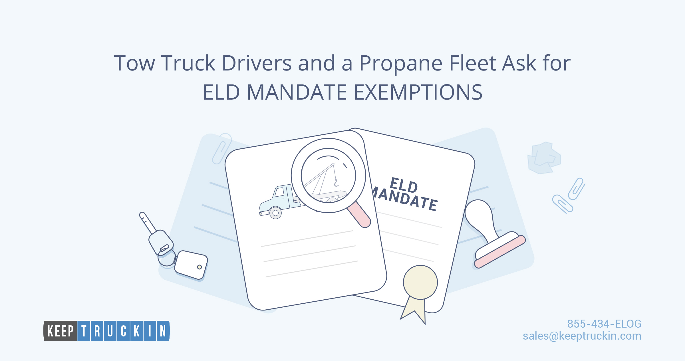 Tow truck drivers and a propane fleet ask for ELD mandate exemptions
