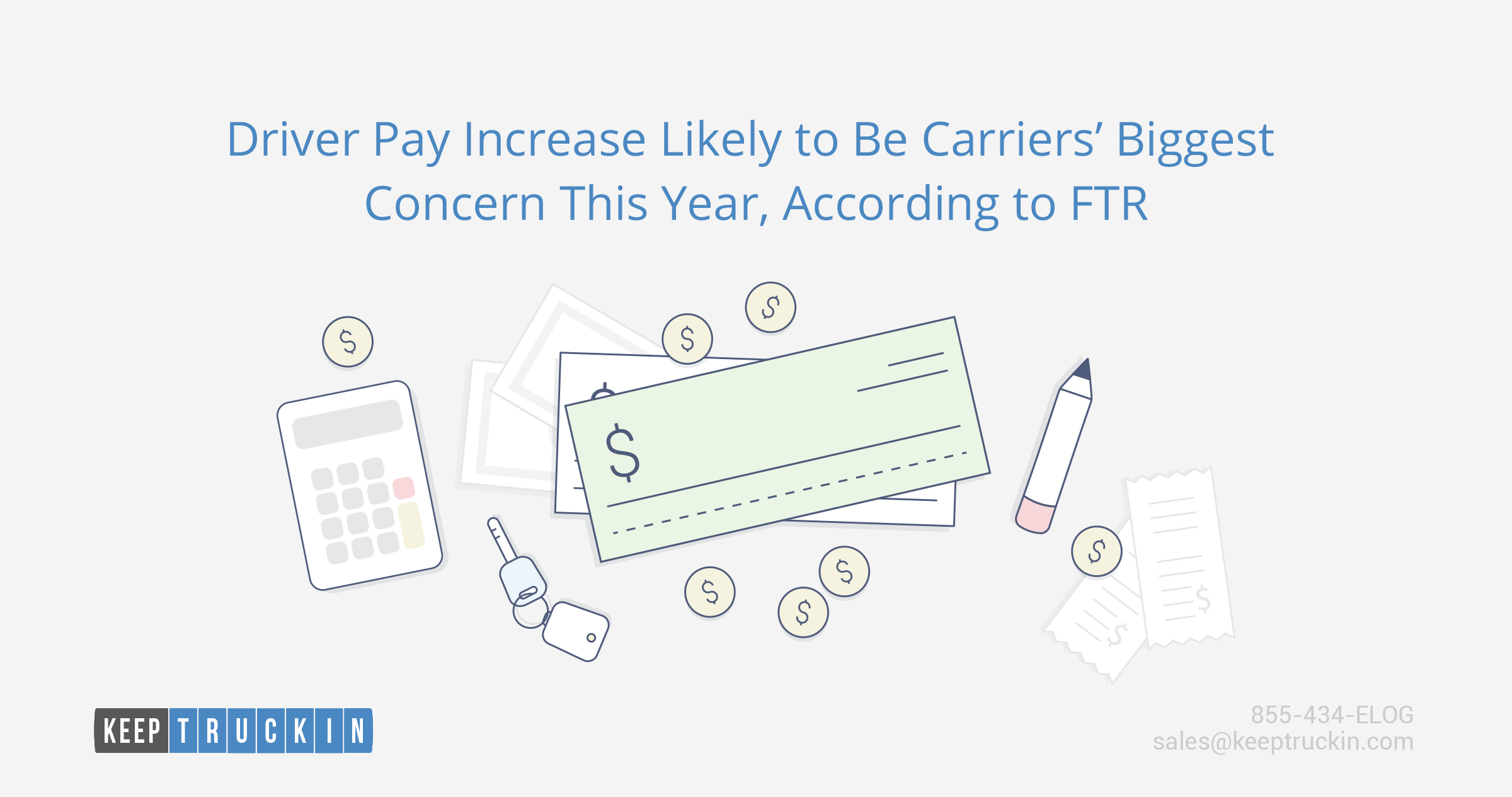 Driver pay increase likely to be carriers' biggest concern this year, according to FTR