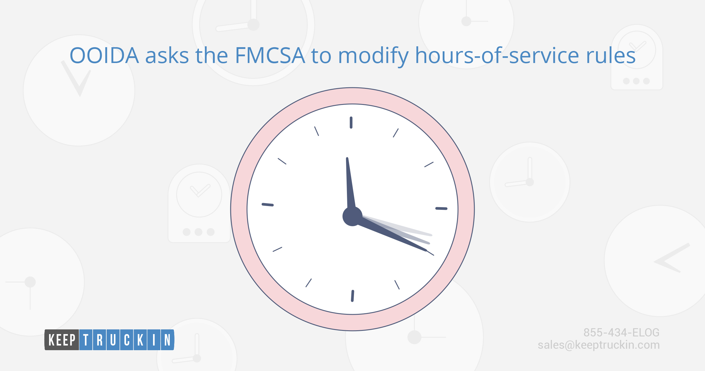 OOIDA asks the FMCSA to modify hours-of-service rules