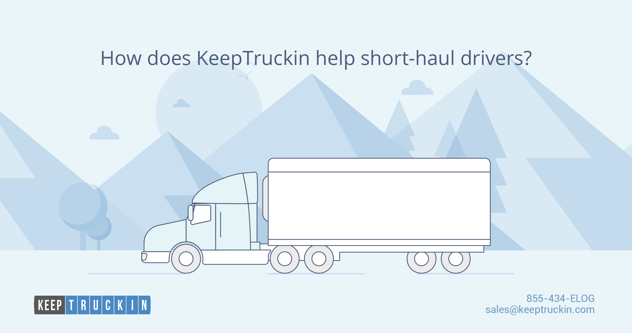 How does KeepTruckin help short-haul drivers?