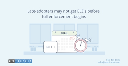 Late adopters may not get ELDs before full enforcement begins