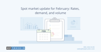 Spot market update for February: Rates, demand, and volume