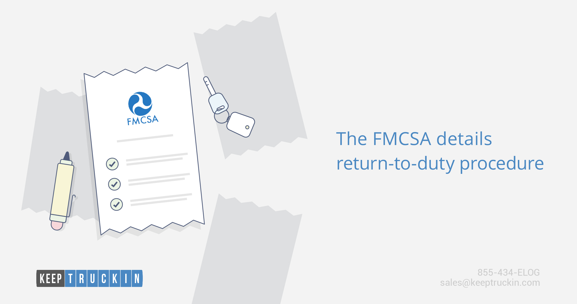 The FMCSA details return-to-duty procedure