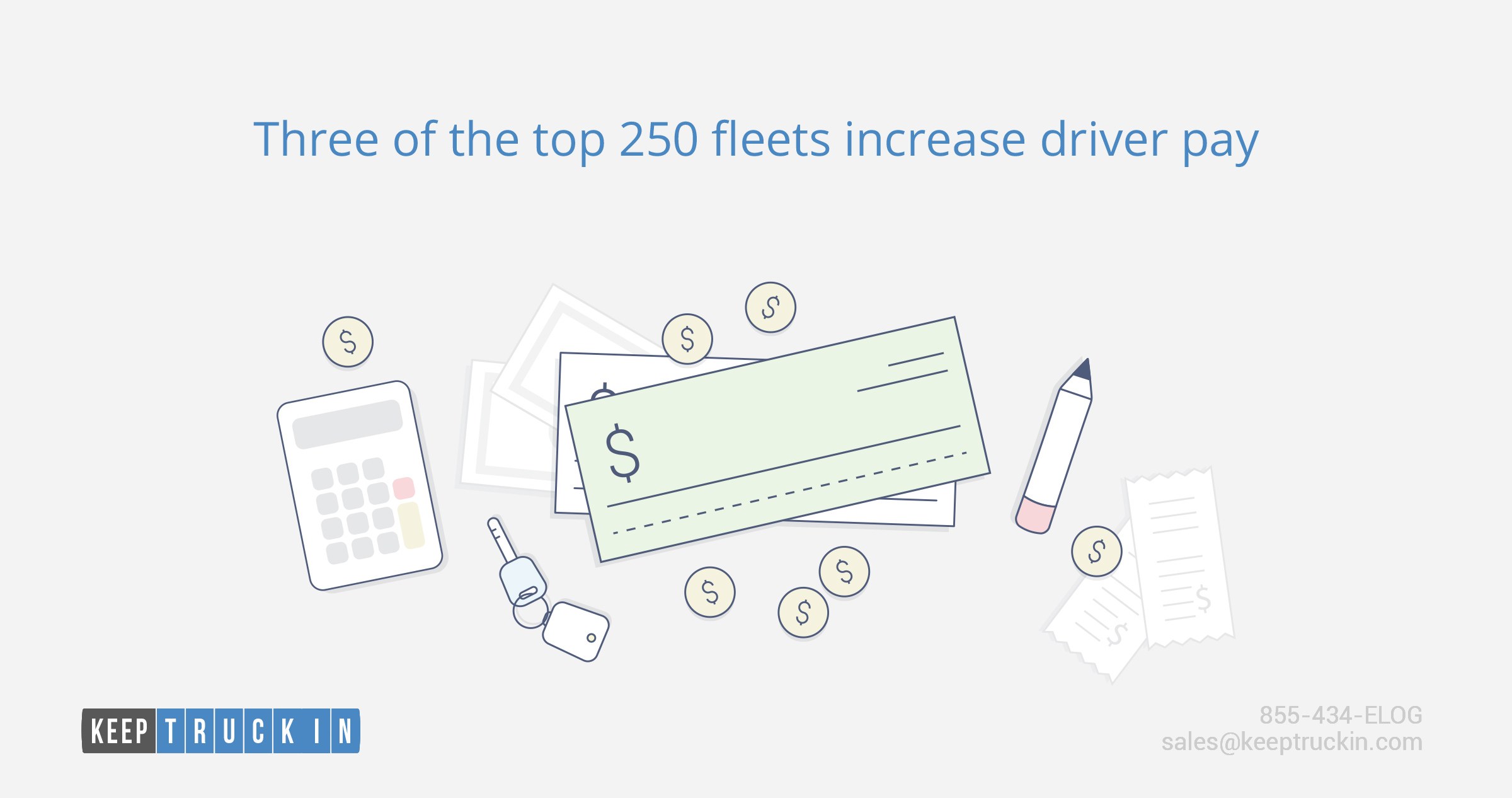 Three of the top 250 fleets increase driver pay
