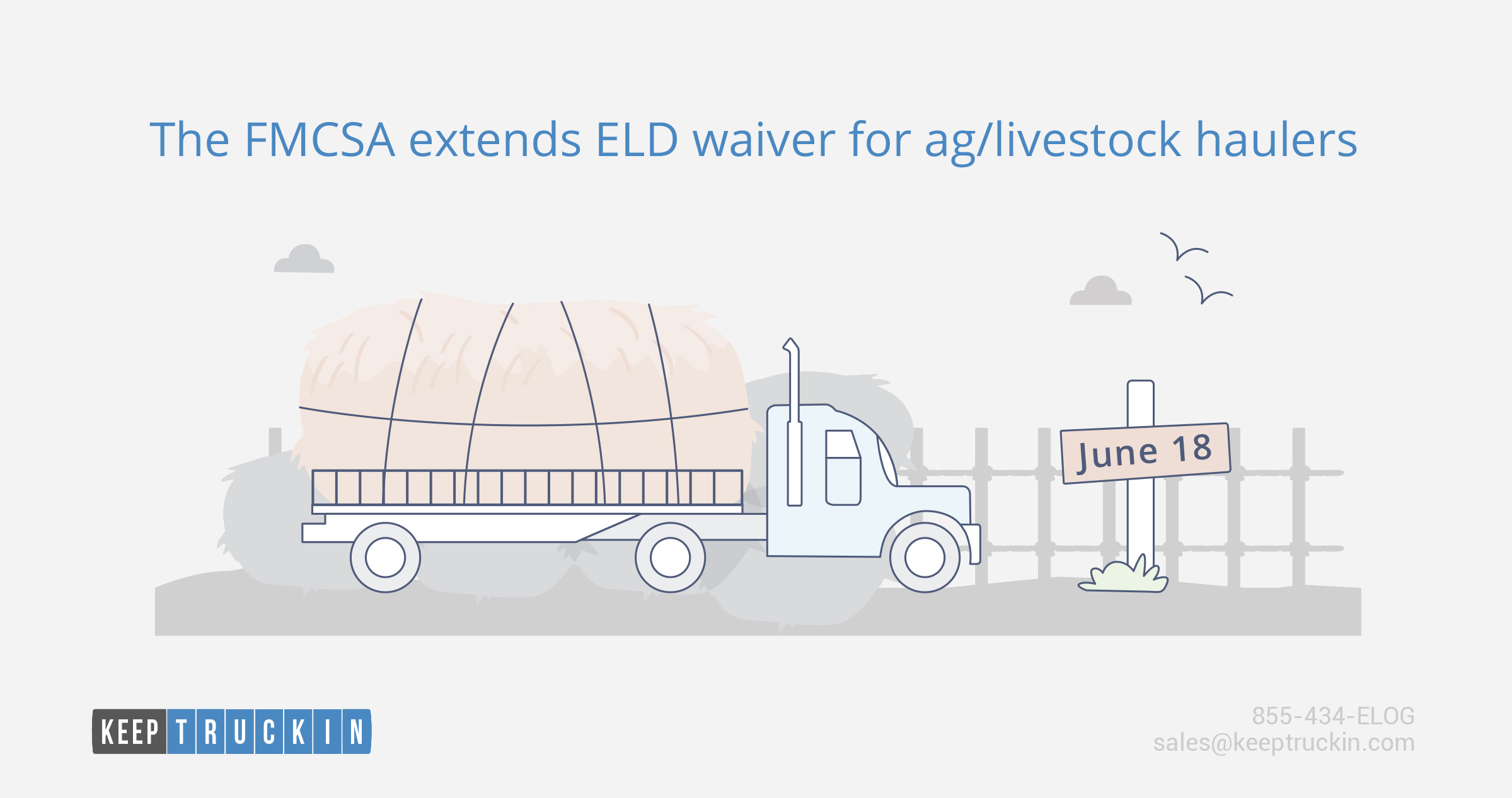 The FMCSA extends the ELD waiver for ag/livestock haulers