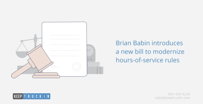 Brian Babin introduces a new bill to modernize hours-of-service rules