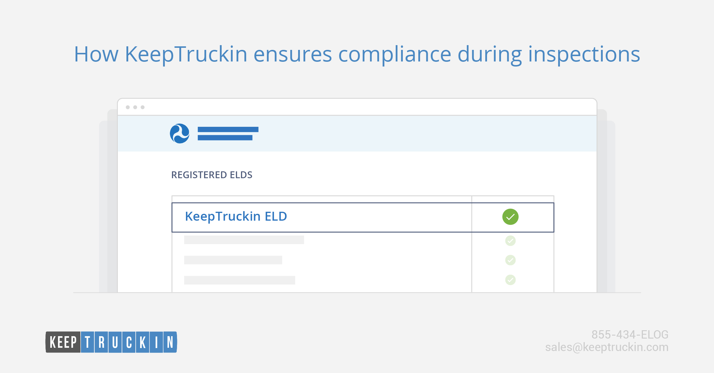 How KeepTruckin ensures compliance during inspections