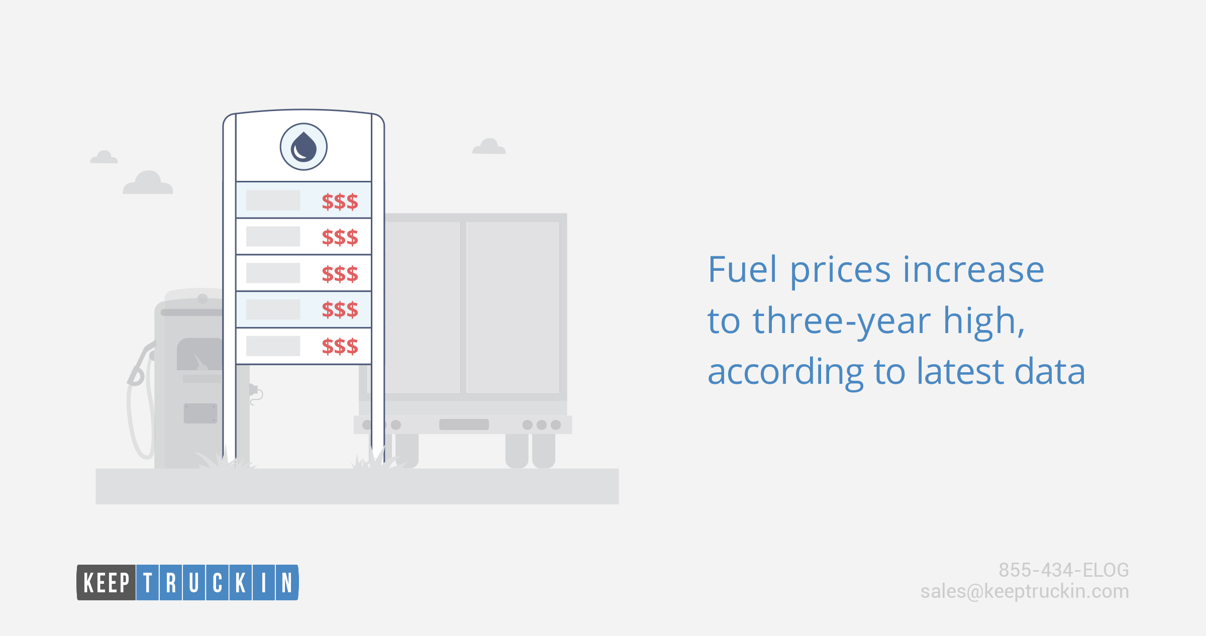 Fuel prices increase to three-year high