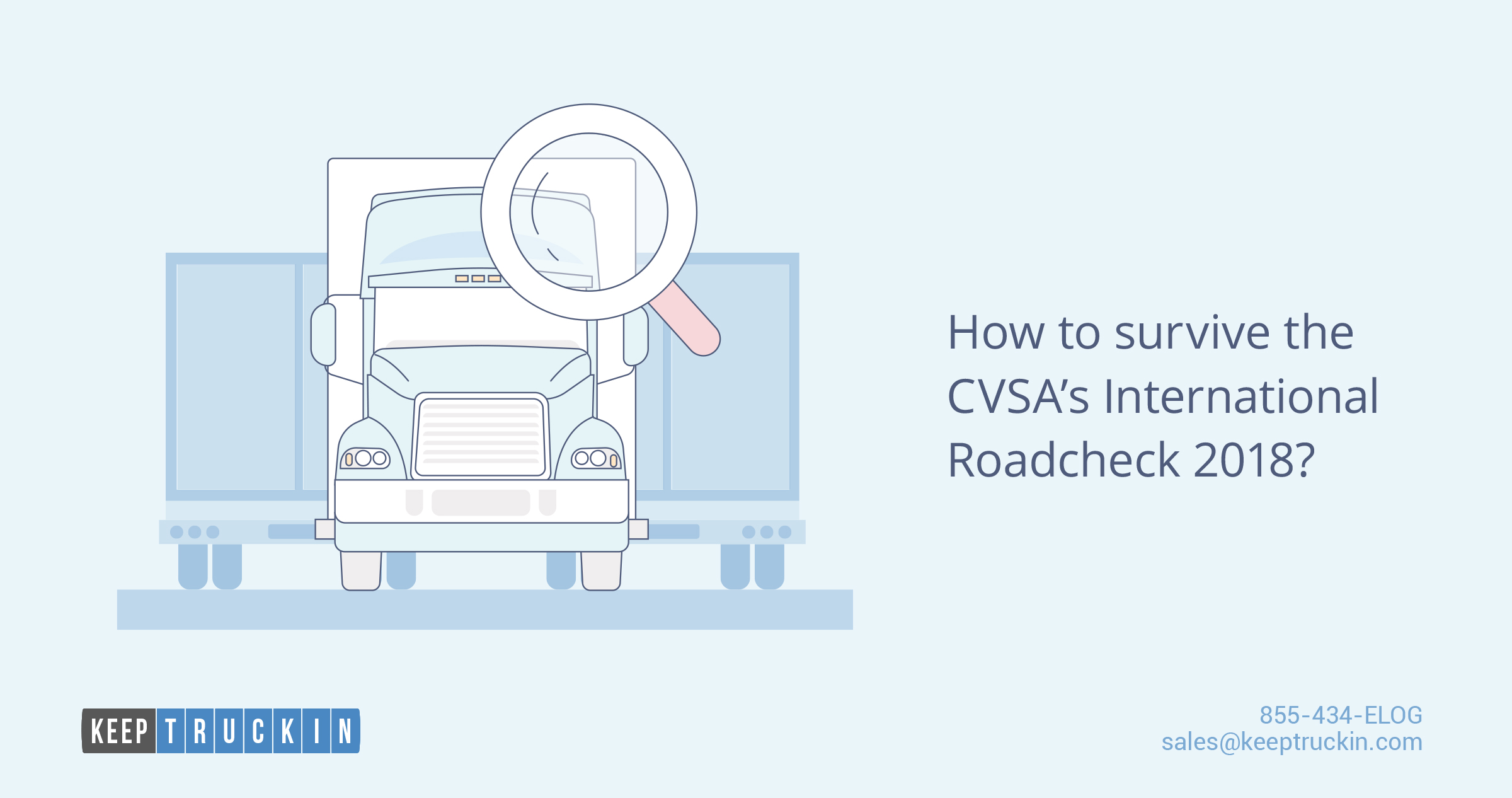 How to survive the CVSA's International Roadcheck 2018