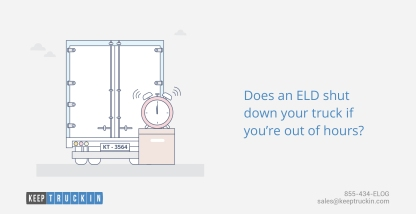 Does an ELD shut down your truck if you're out of hours?