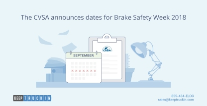 The CVSA announces dates for Brake Safety Week 2018