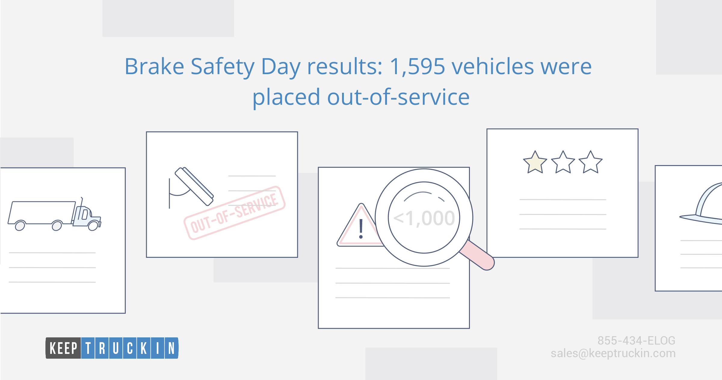 Brake Safety Day results: 1,595 vehicles were placed out-of-service