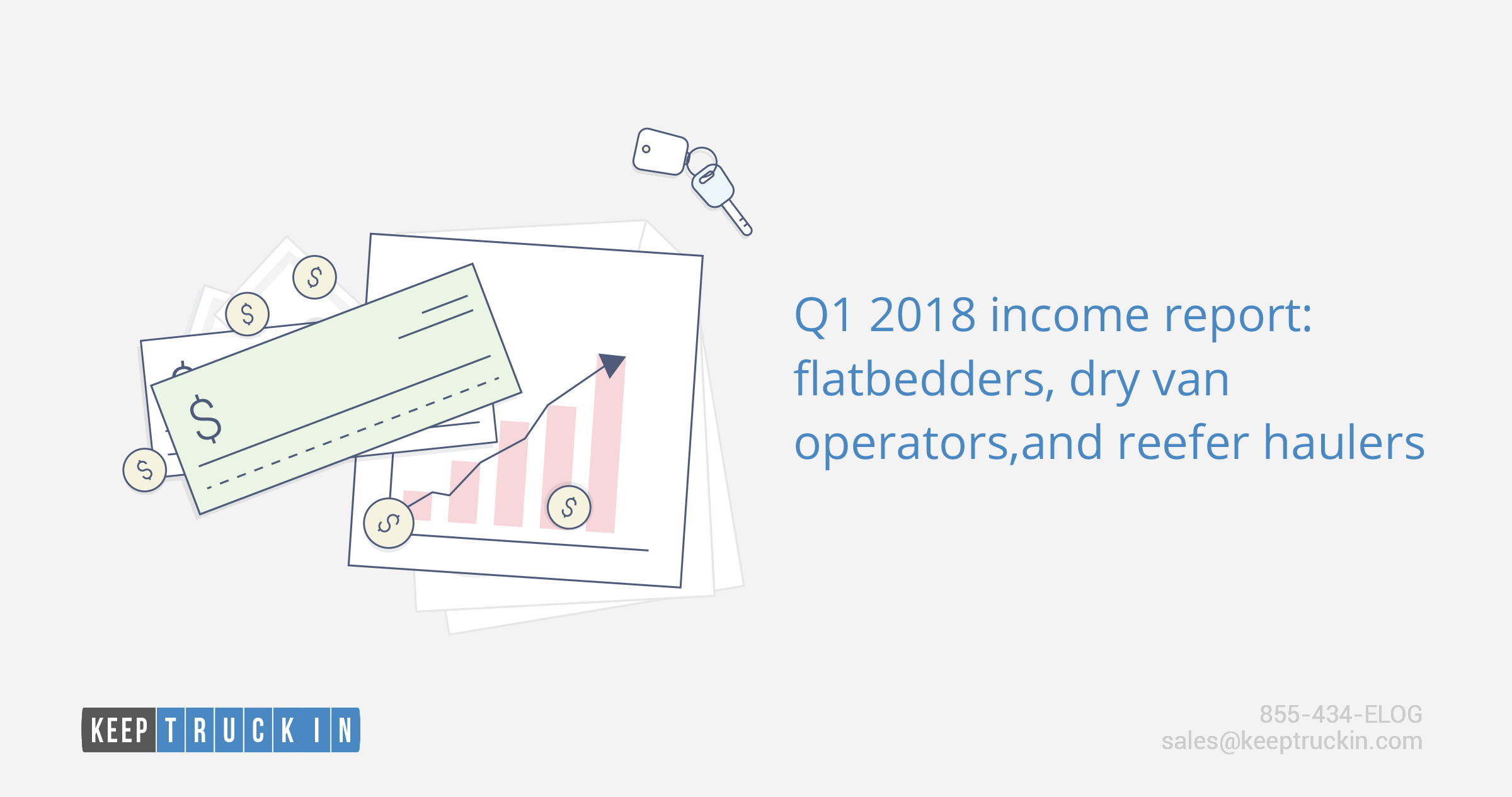 Q1 2018 income report: flatbedders, dry van operators, and reefer haulers