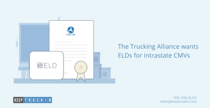 The Trucking Alliance wants ELDs for intrastate CMVs