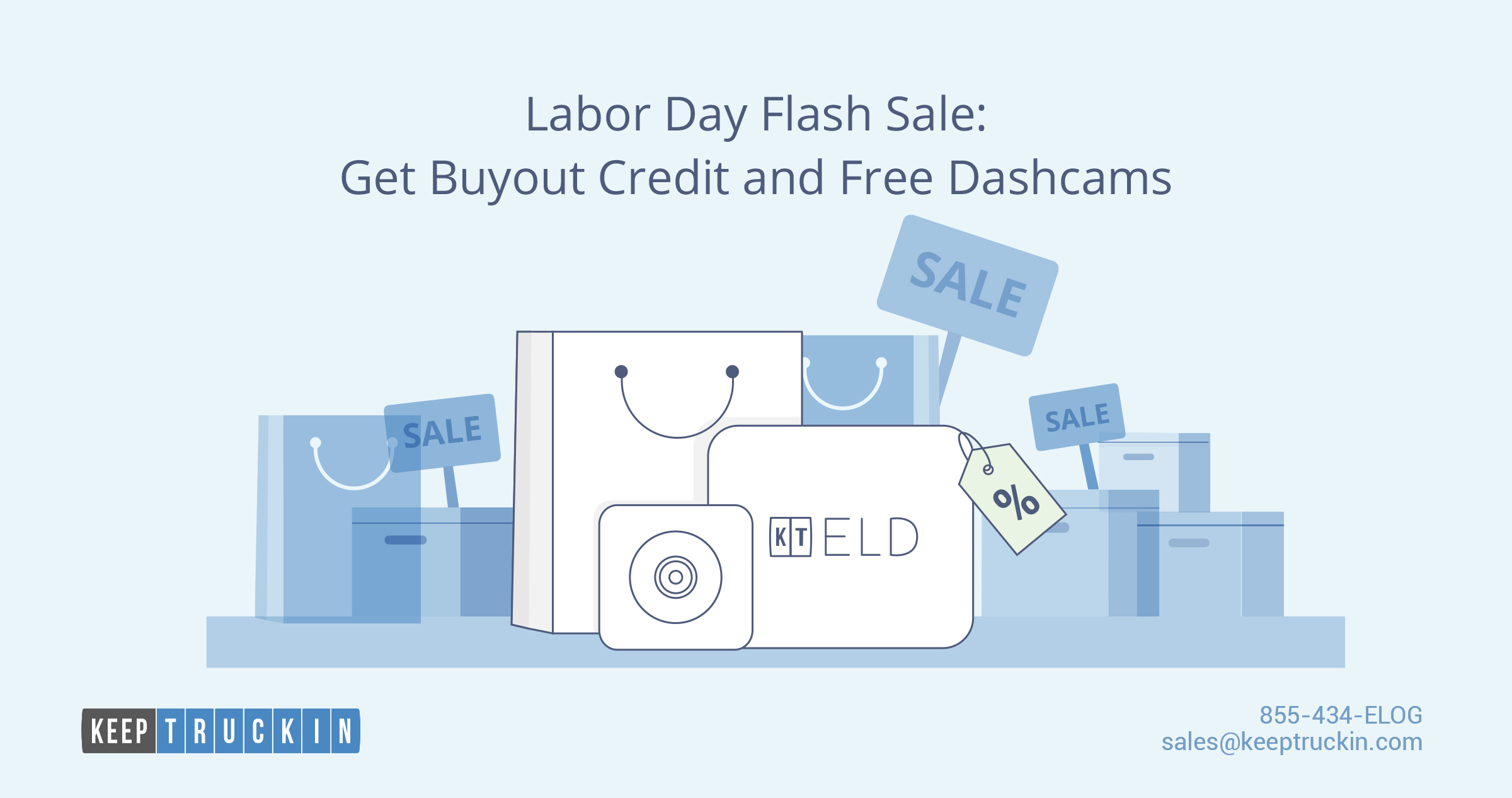 Labor Day flash sale: Get buyout credit and free dashcams