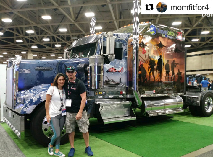 Here is Will's truck at GATS 2018 in Dallas .