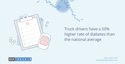 Diabetes prevention: 5 tips for truck drivers