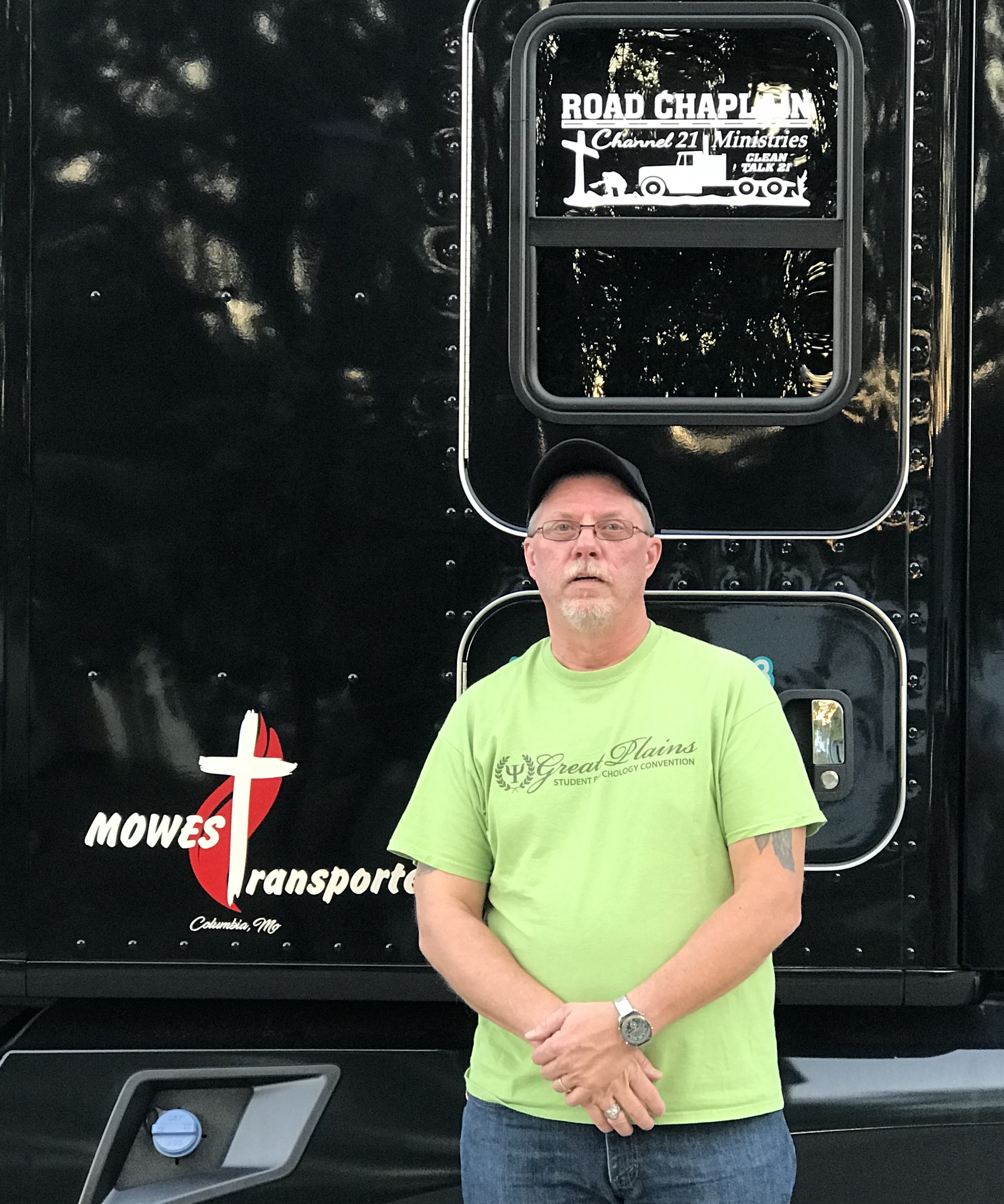 Clifford Petersen and his truck
