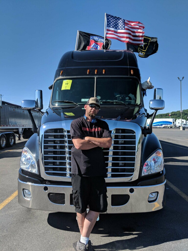 James Rogers with his truck