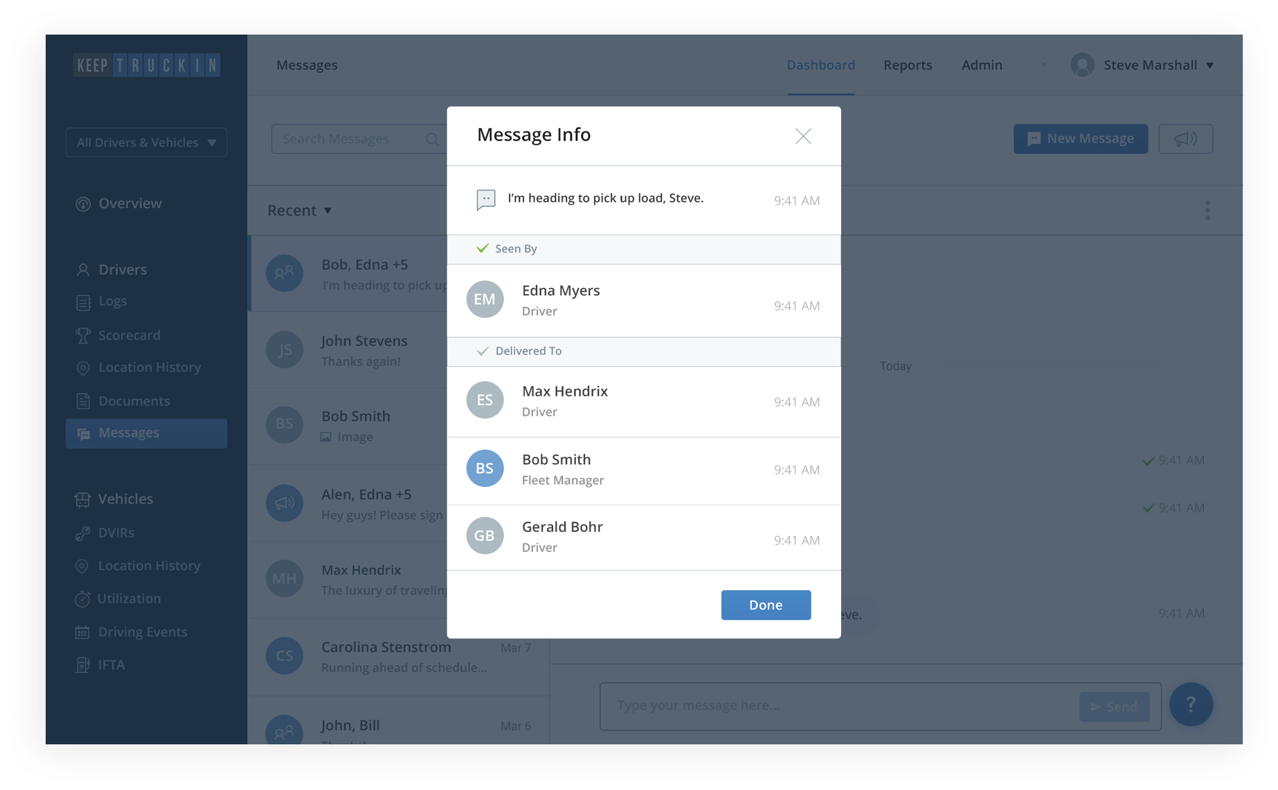 Increase transparency with read receipts